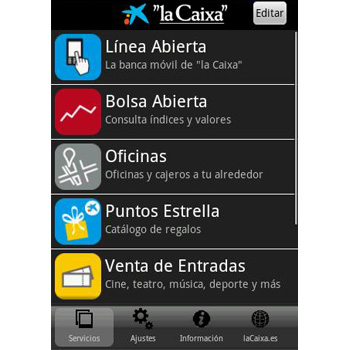 Pin caixa linea abierta on pinterest for La caixa oficina internet