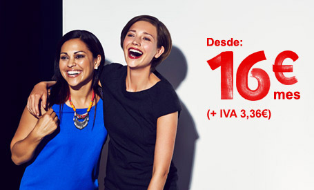 Desde 16€ mes (+IVA 3,36€)